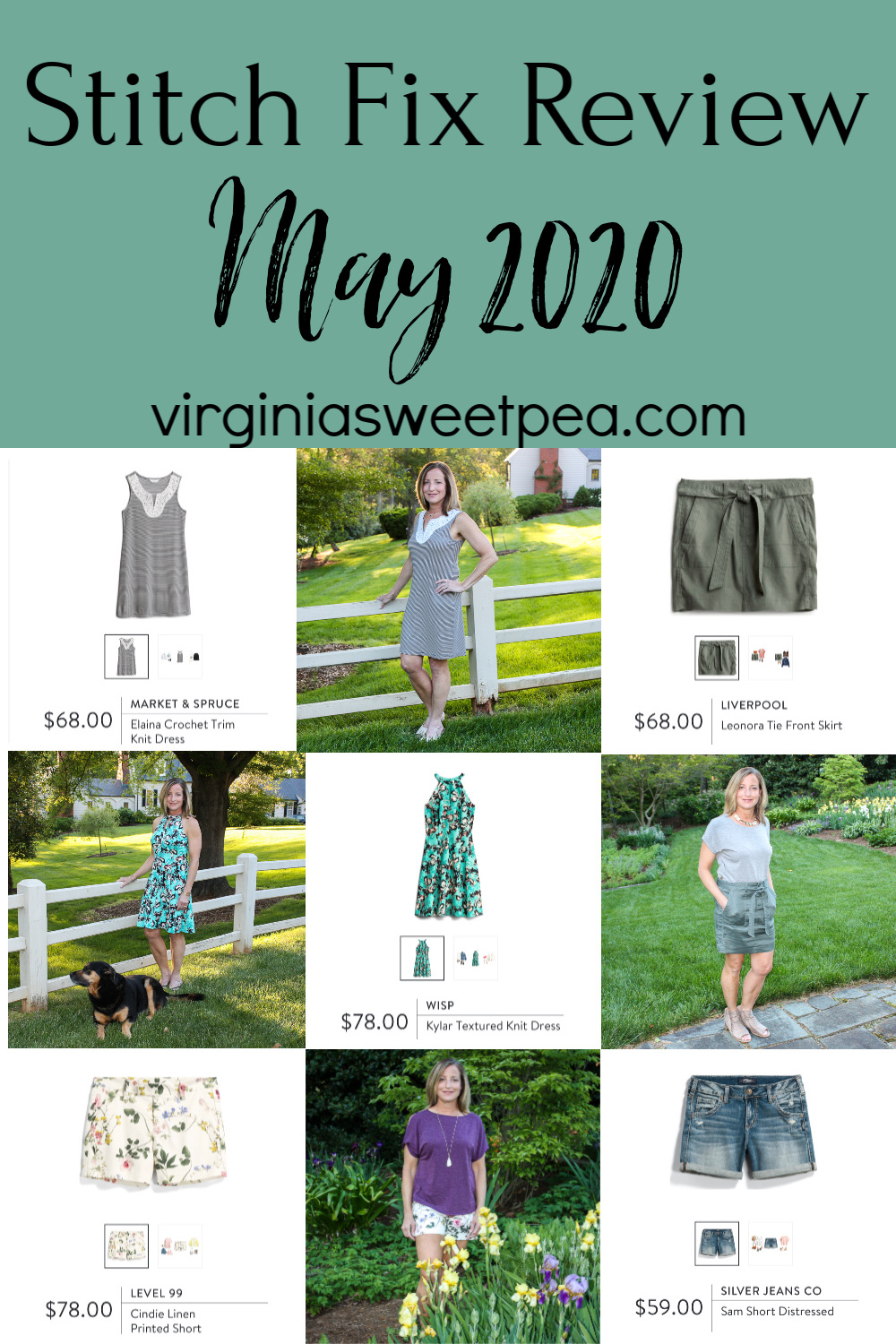 Stitch Fix Review for May 2020 - See spring to summer Stitch Fix styles for May.  #stitchfix #stitchfixreview #stitchfixstyle #virginiasweetpea via @spaula