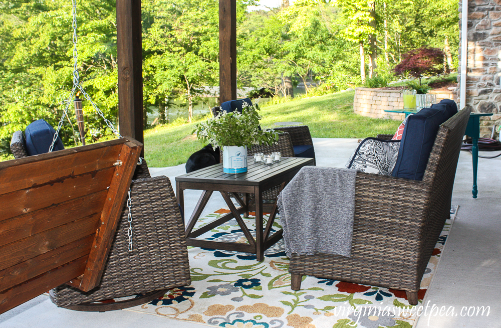 Summer ready patio at Smith Mountain Lake