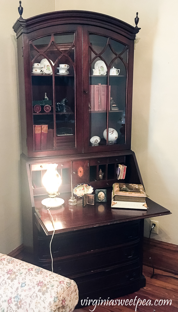 Antique Secretary Styled with Vintage