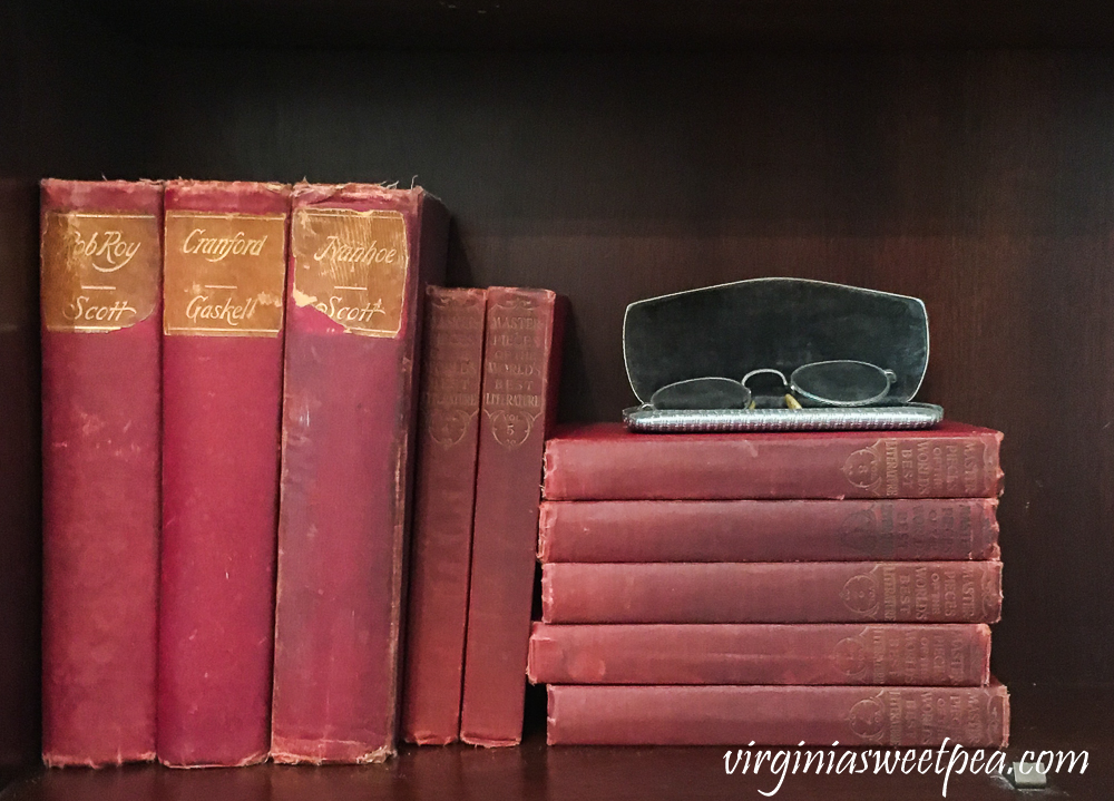 Vintage Books with Red Covers