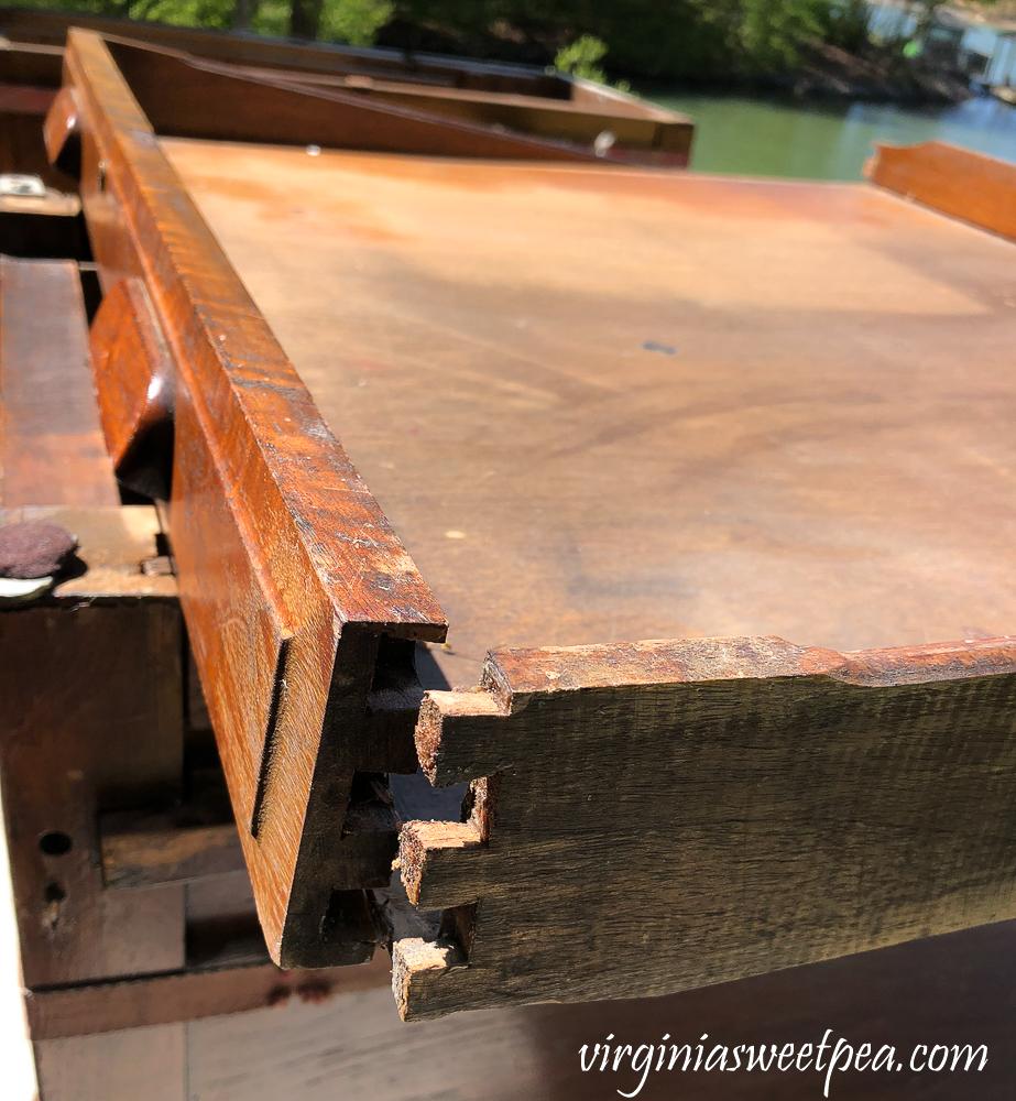 Repairing a Vintage Office Desk