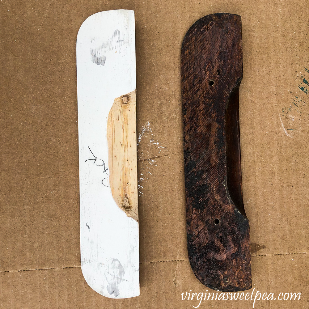 Making a wooden drawer pull to match a missing one on a desk