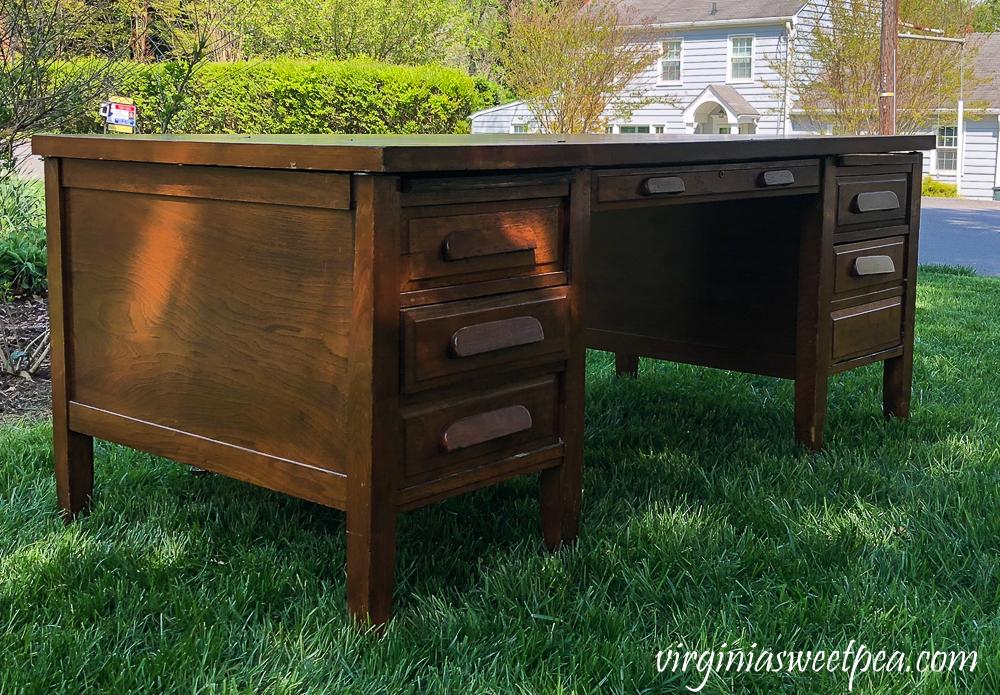 Vintage office desk before makeover