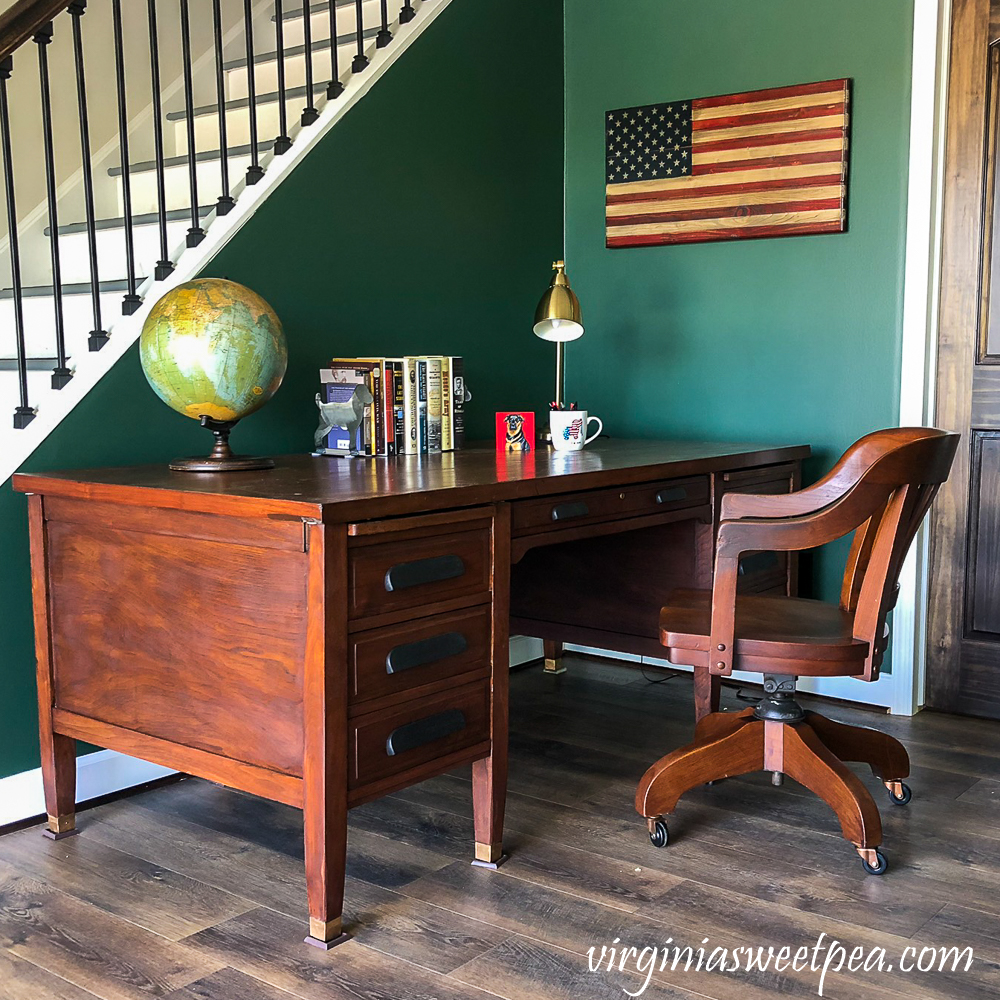 Vintage Office Desk in a Family Room