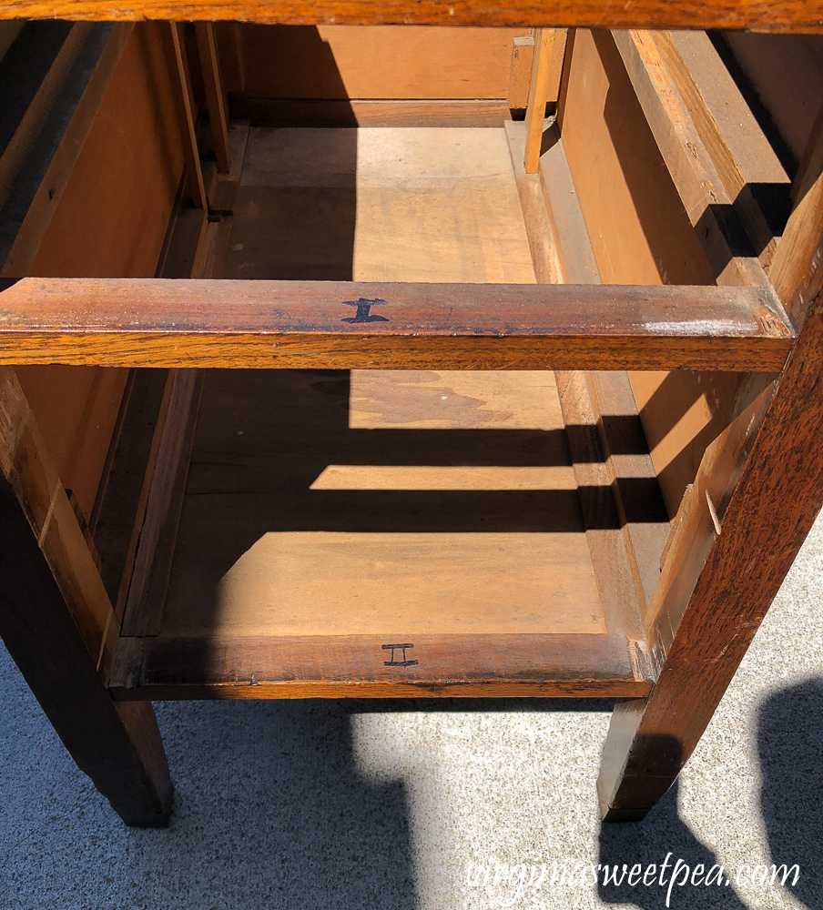 Refinishing a vintage office desk