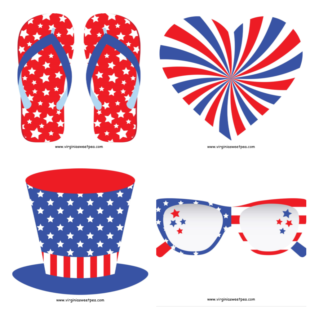4th of July Free Printables for Decor or a Photobooth