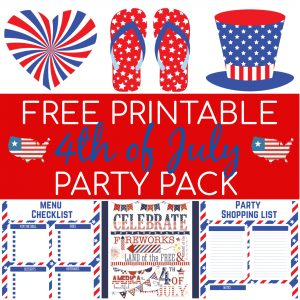 Free Printable 4th of July Party Pack