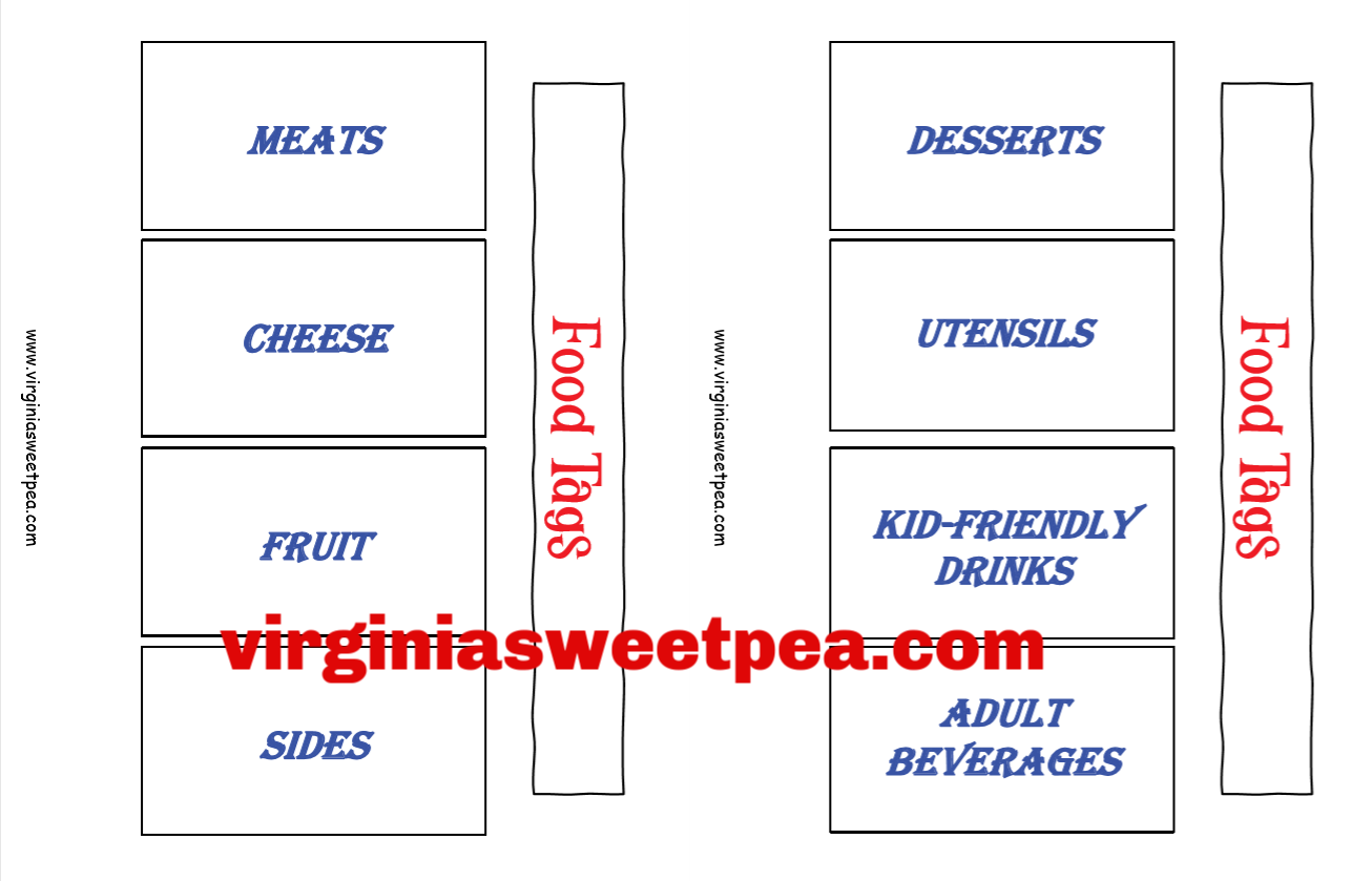 Free Printable Food Labels for a Picnic