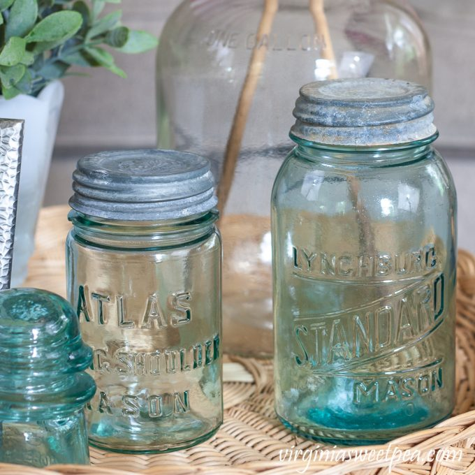 Vintage Atlas Mason Jar and Lynchburg Standard Mason Jar
