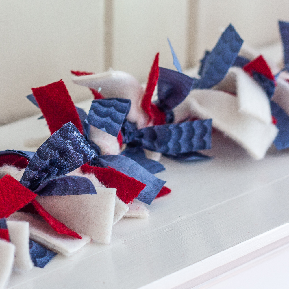 DIY Patriotic Rag Garland