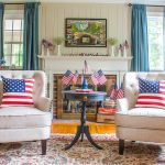 Patriotic Mantel with Vintage