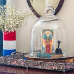 Vintage Style Patriotically Decorated Living Room
