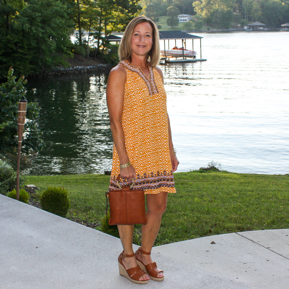 Stitch Fix Review for July 2020 - THML Faye Embroidered Dress