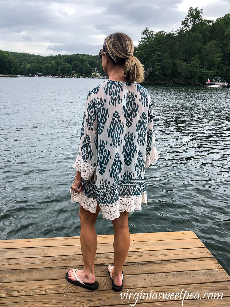Stitch Fix Mason & Belle Laria Crochet Trim Kimono