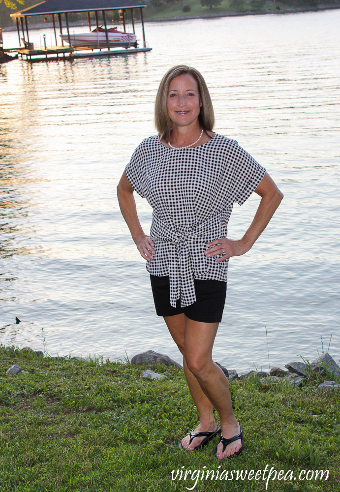 Stitch Fix West Kei Julianna Cuffed Sleeve Tie Front Blouse