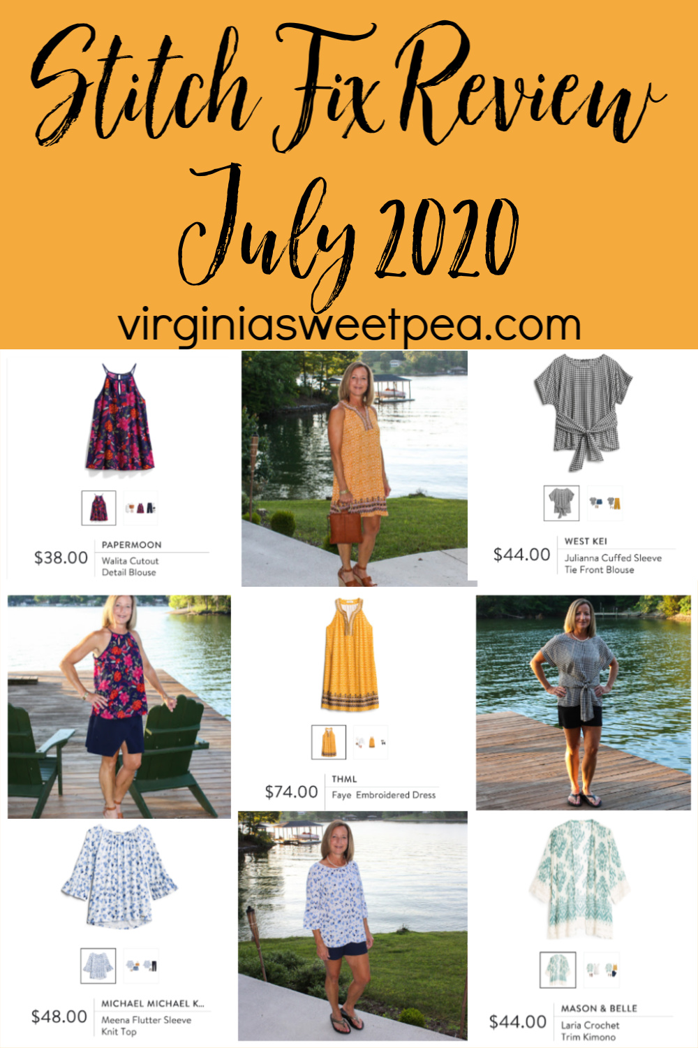 Stitch Fix Review for July 2020 - See summer fashions picked by my stylist to try for July.  #stitchfix #stitchfixreview via @spaula