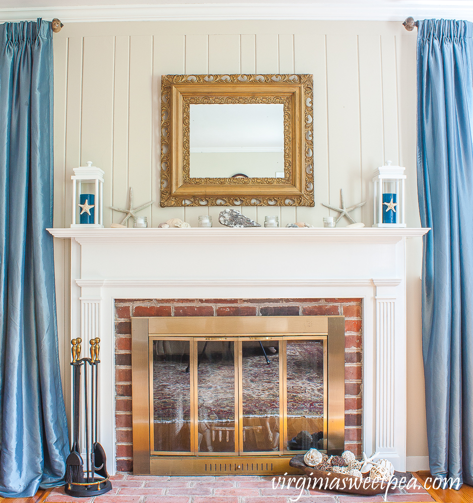 Coastal Themed Summer Mantel