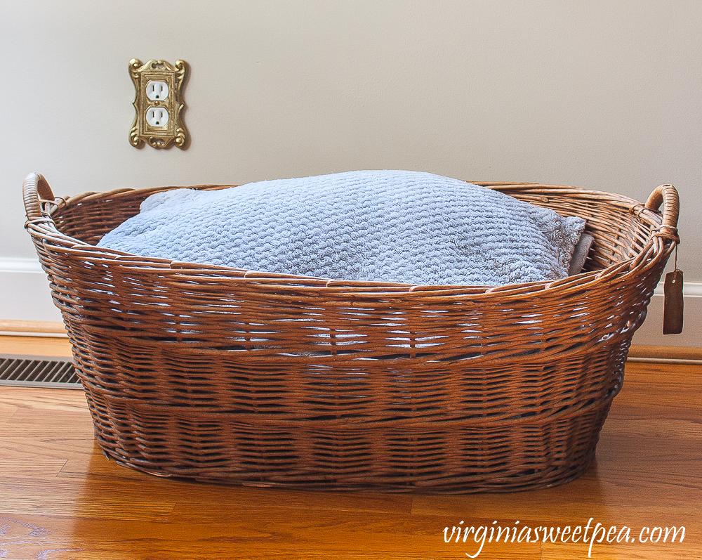 Vintage Woven Laundry Basket