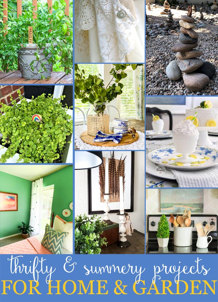 10 Thrifty Home and Garden Decorating Ideas