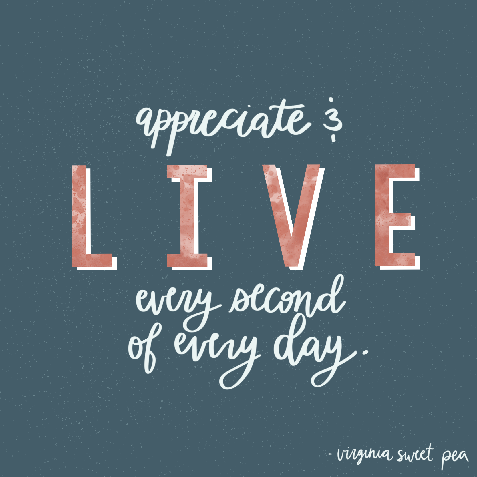 Appreciate and Live Every Second of Every Day
