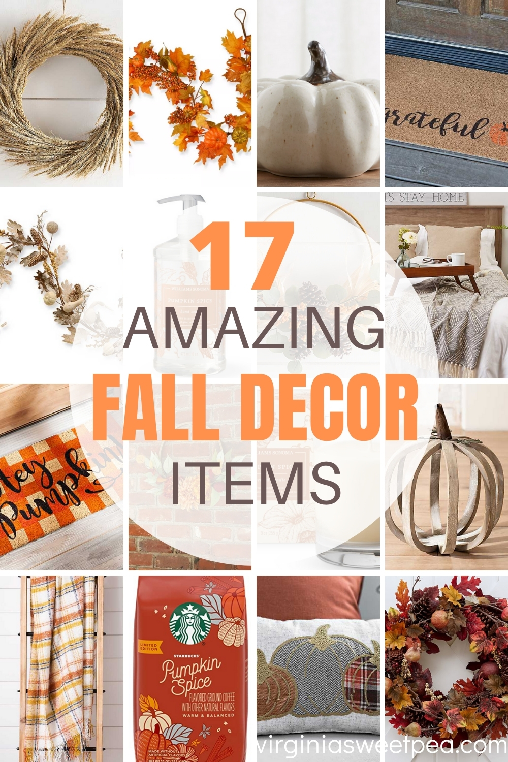 17 Amazing Fall Decor Items - Get ideas for decorating for fall with affordable decor.  Your home will look amazing!  #falldecor #falldecorations #farmhouse via @spaula