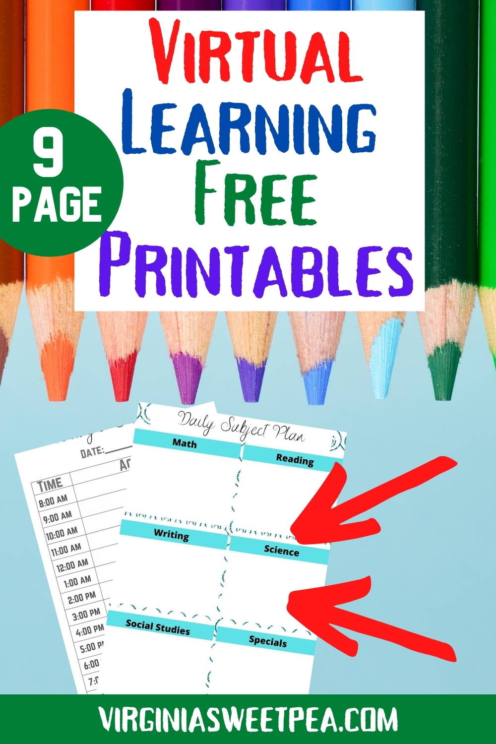 Virtual Learning Free Printables - Use these free printables to help your child have virtual learning success. #virtuallearning #freeprintablesvirtuallearning via @spaula
