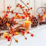 Nature Inspired Fall Mantel Decor