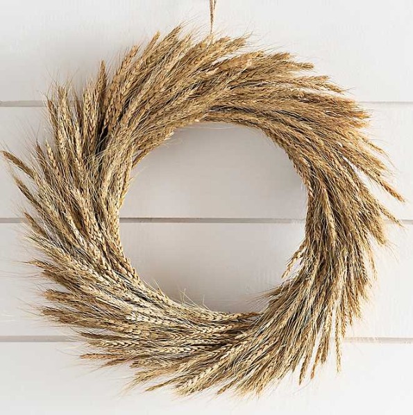 Fall Wheat Wreath from Kirkland's