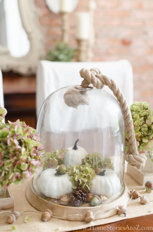 Fall cloche Home Stories A to Z