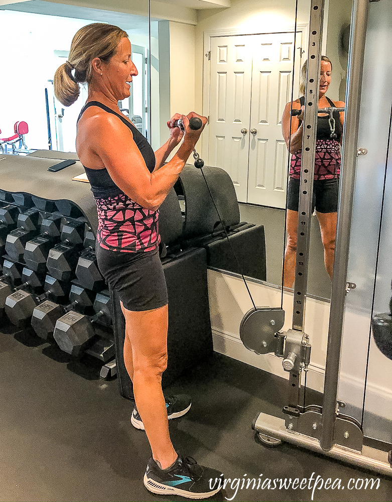 Paula Skulina working out at Total Fitness in Lynchburg, VA