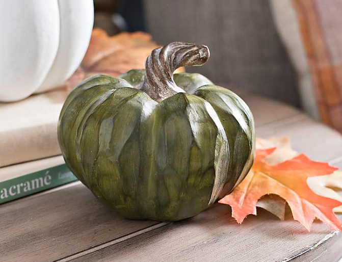 Twisted Stem Green Pumpkin