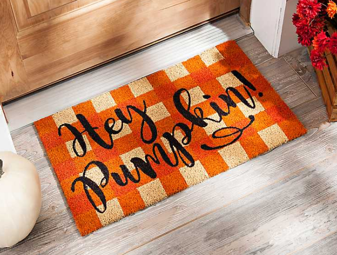 Hey Pumpkin Door Mat