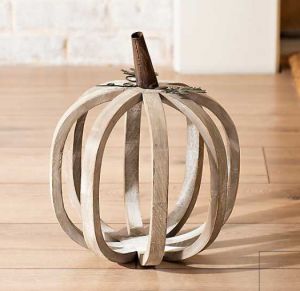 Natural Wooden Pumpkin