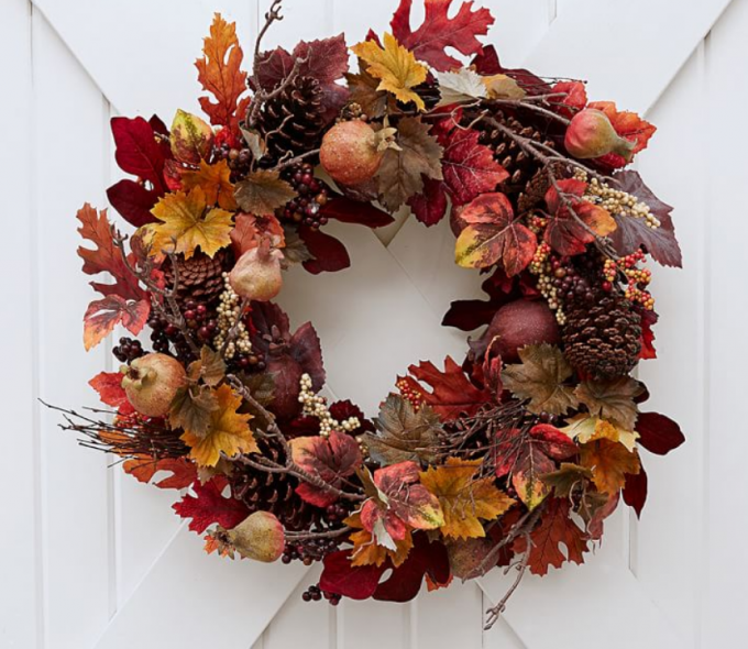 Pottery Barn Fall Wreath