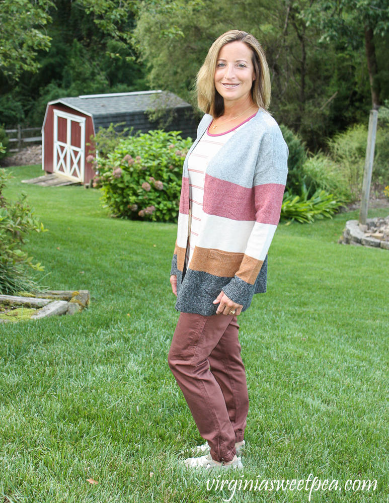 Stitch Fix Pinque Barras Two Pocket ColorBlock Cardigan
