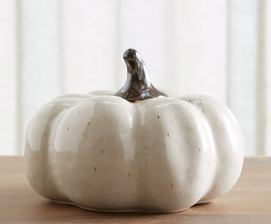 White Ceramic Pumpkin