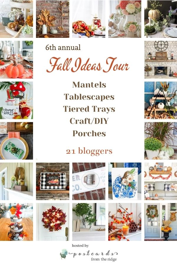 Fall ideas for mantels, tablescapes, tiered trays, crafts, and porches