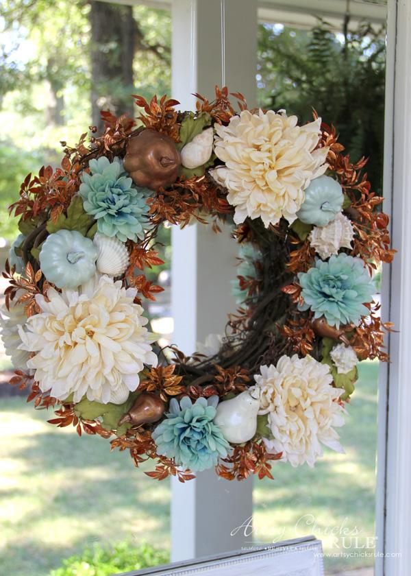 Coastal style fall wreath