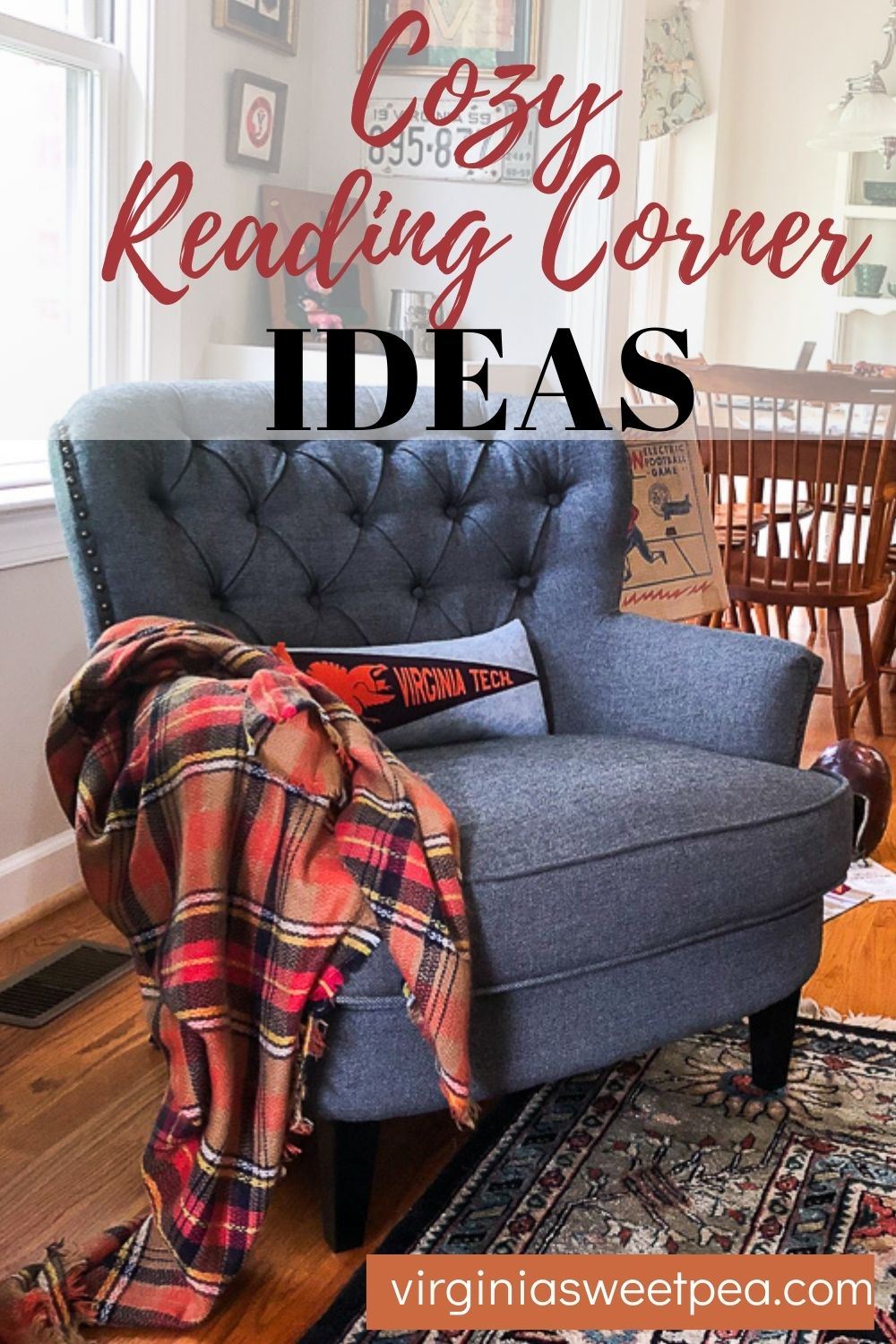 Cozy Reading Corner Ideas - Get ideas for creating a cozy reading corner to enjoy in your home.   via @spaula