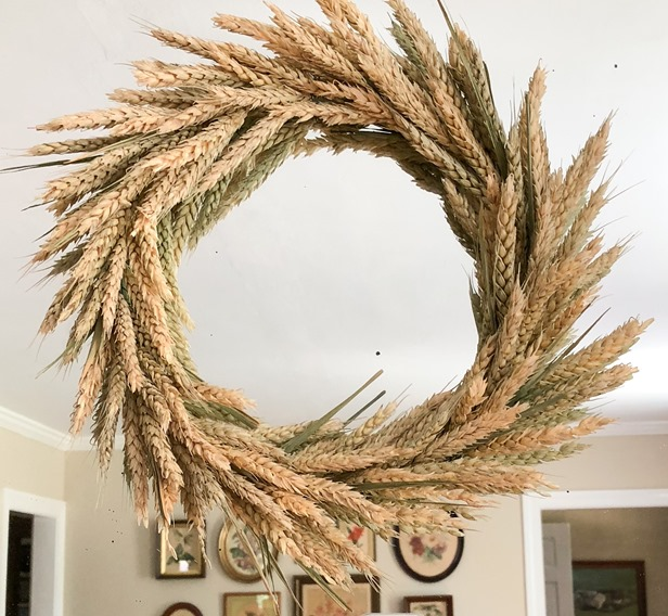 Handmade wheat wreath