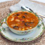 Fiesta Chowder in a Noritake Condoro bowl