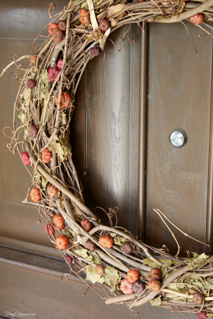 Fall wreath with natural looking small berries