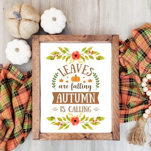 Leaves are Falling Autumn is Calling Free Printable