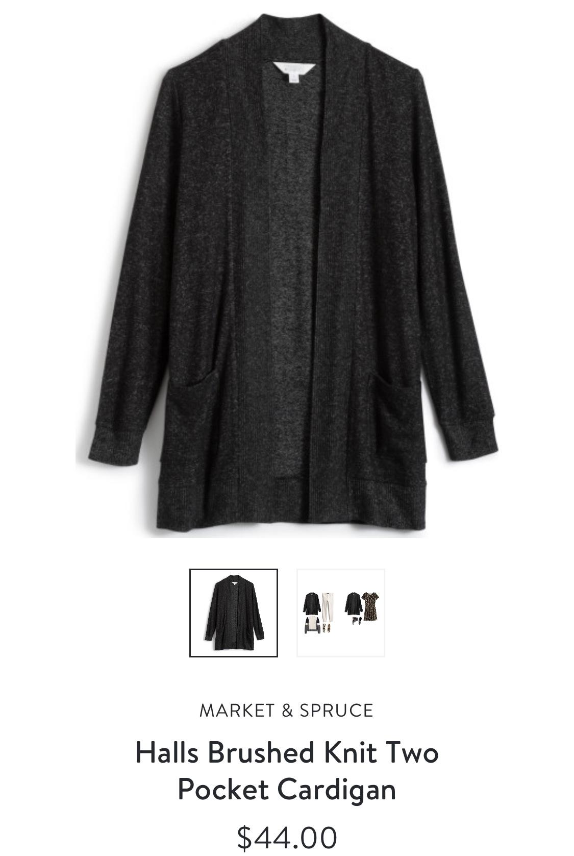 Market & Spruce Halls Brushed Knit Two Pocket Cardigan