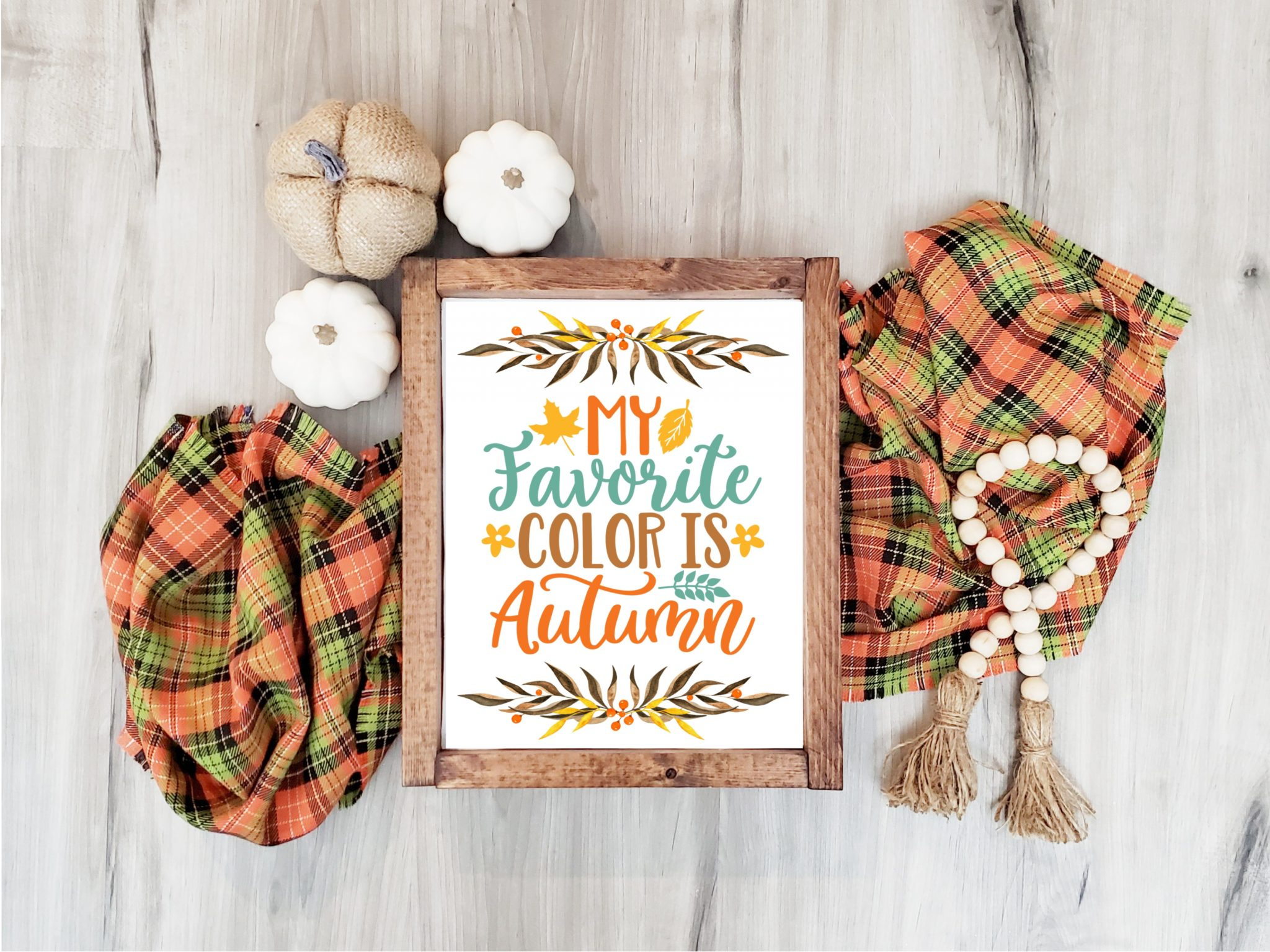 My Favorite Color is Autumn Free Printable