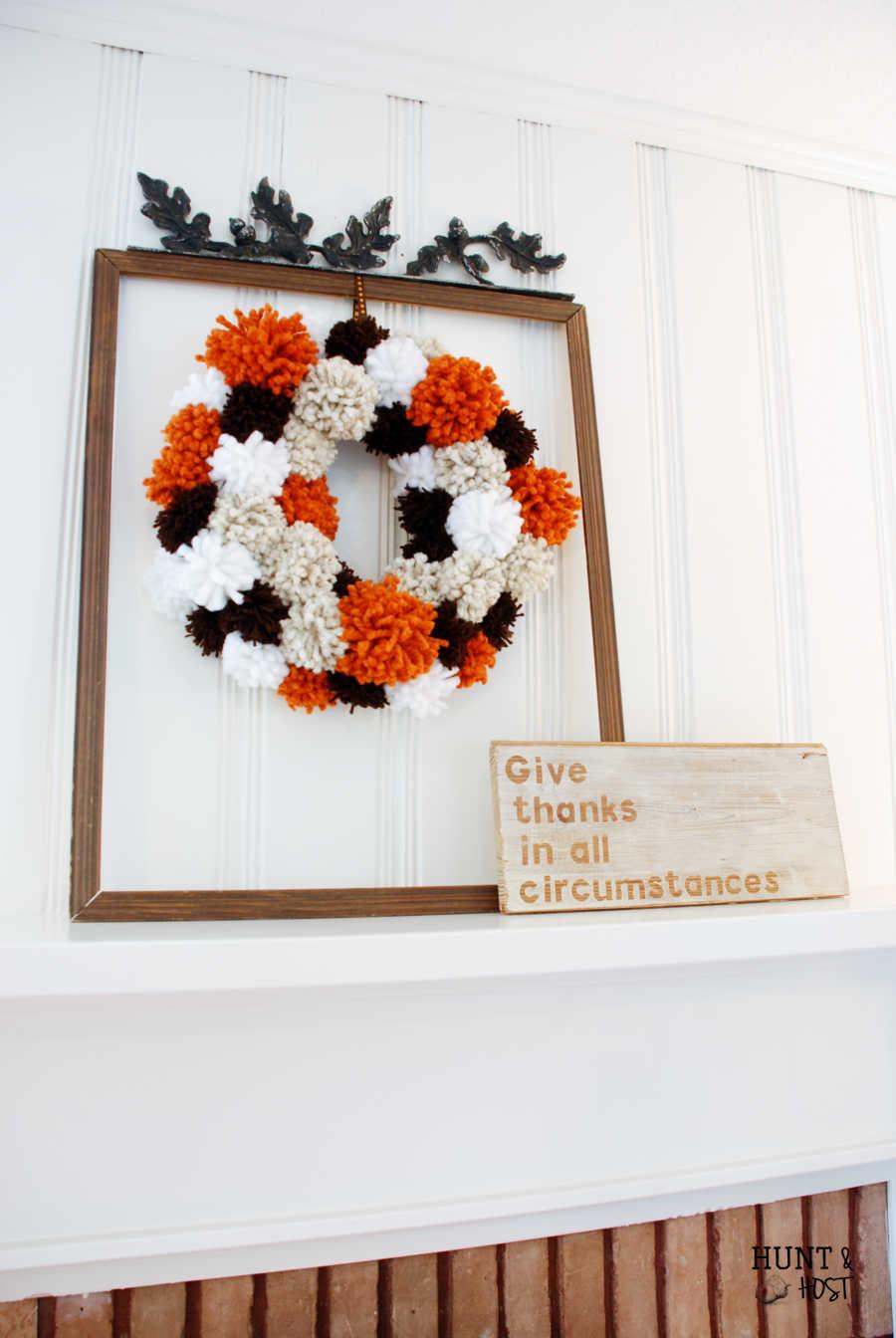 Pom Pom Fall Wreath
