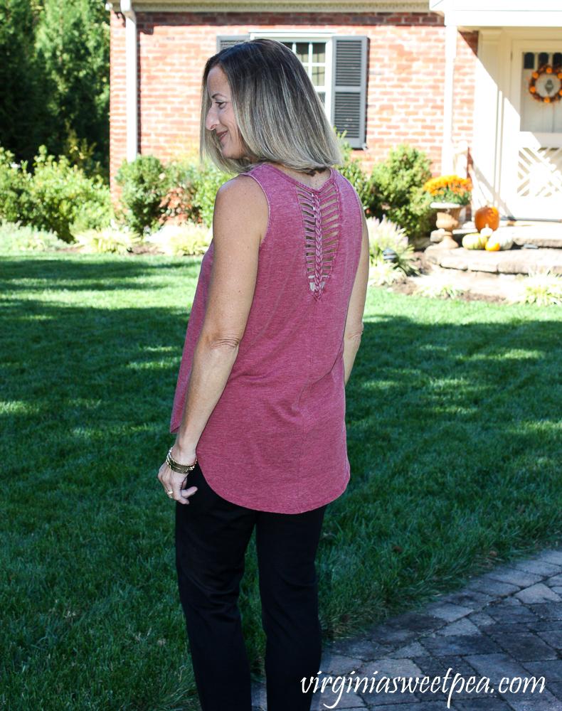 Stitch Fix Sage Braided Back Cut Out Tank
