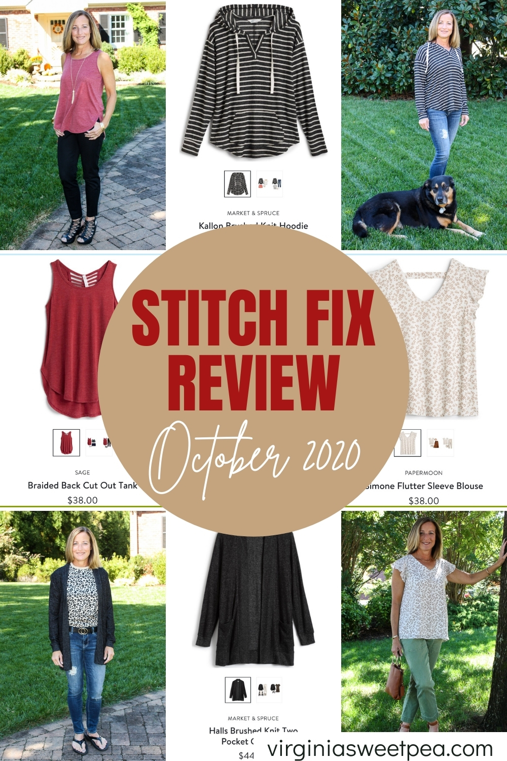 Stitch Fix Review for October 2020 - See the fall fashions picked by my stylist to try for October.  #stitchfix #stitchfixreview #stitchfix #falloutfits via @spaula