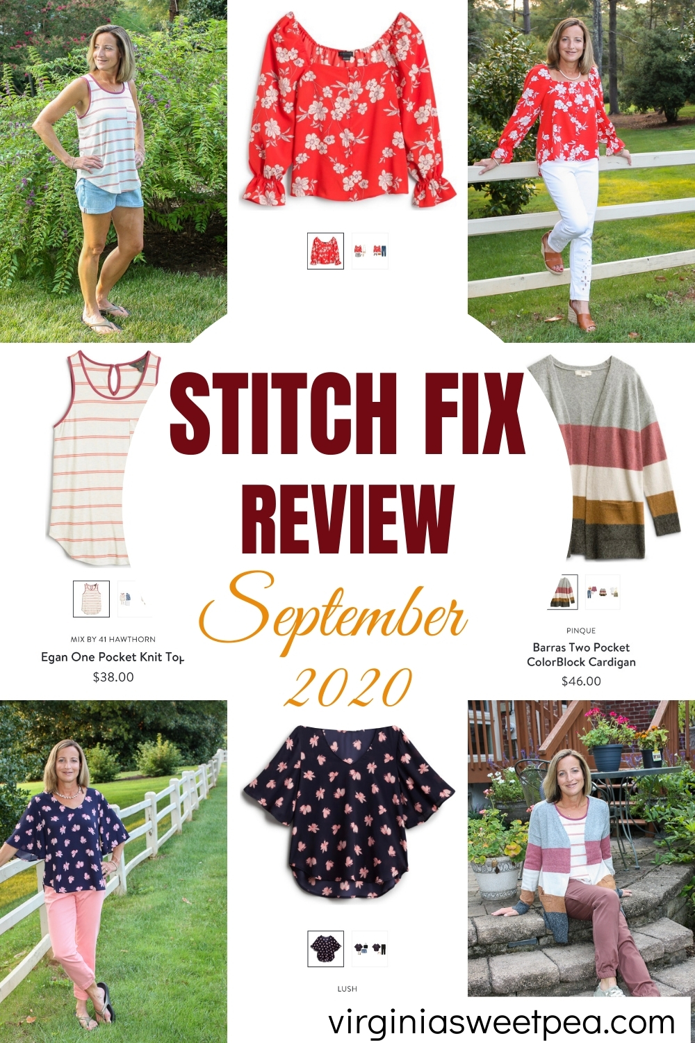 Stitch Fix Review for September 2020 - See the styles picked for me to try for September.  These pieces are great for transitioning from summer to fall.  #stitchfix #stitchfixreview #stitchfixstyle via @spaula