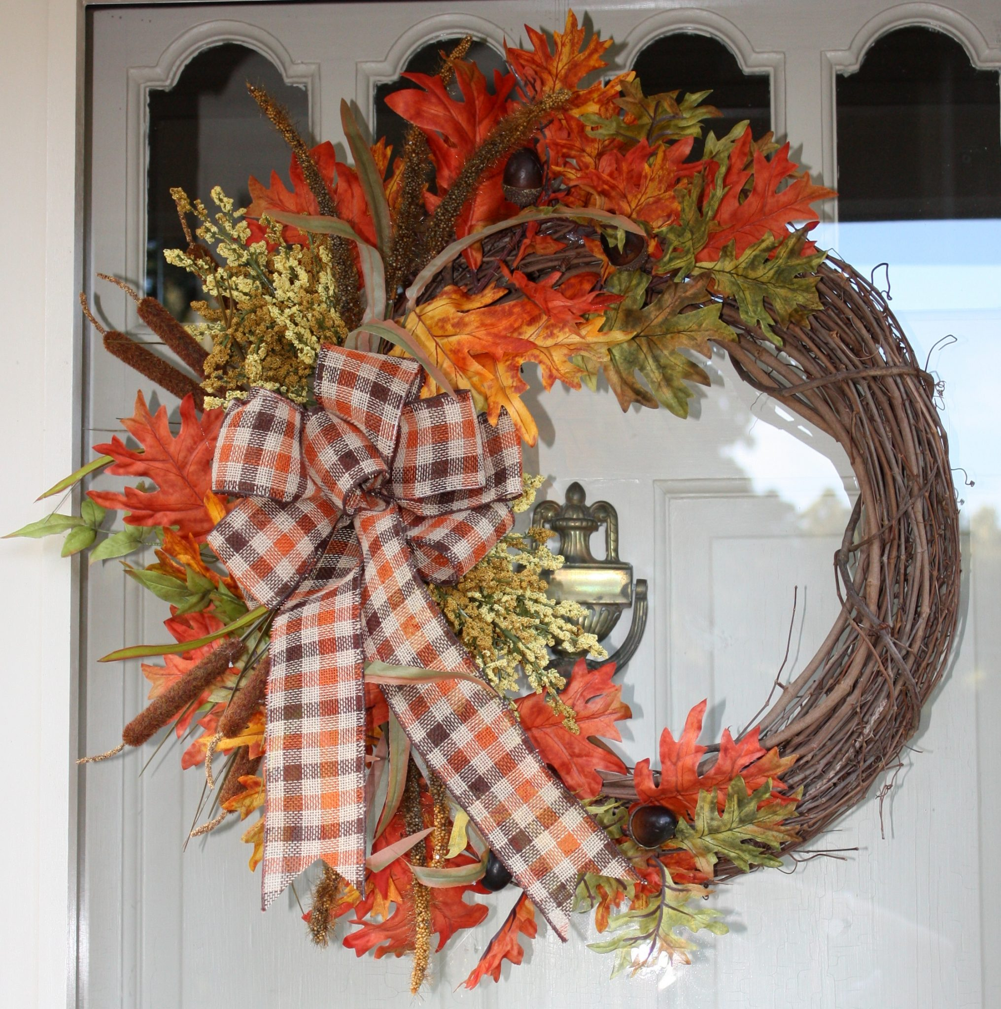 Traditional style fall wreath